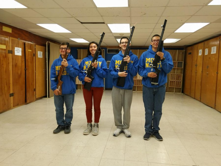 Students prepare for the marksmanship competition