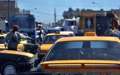 Traffic jam in Dakar, Senegal