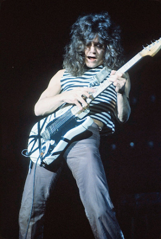 Eddie Van Halen performing at the New Haven Coliseum  Photo Source: Wikimedia Commons