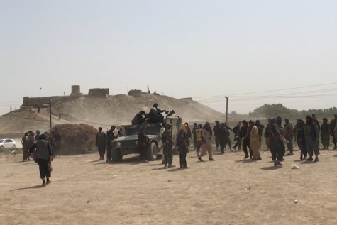 Afghan pro-government forces (including militia and army troops) assemble in Jowzjan Province during the 2021 Taliban offensive.  Wikimedia Commons