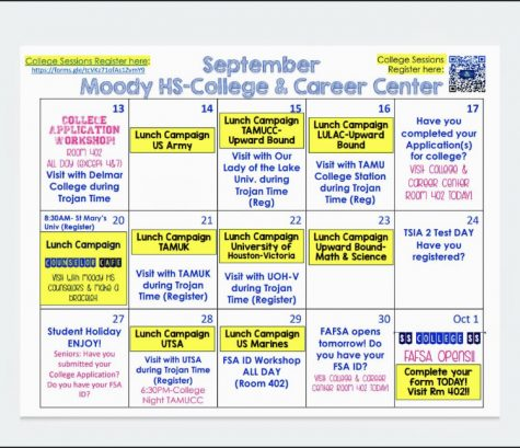 College and Career September Calendar of Events